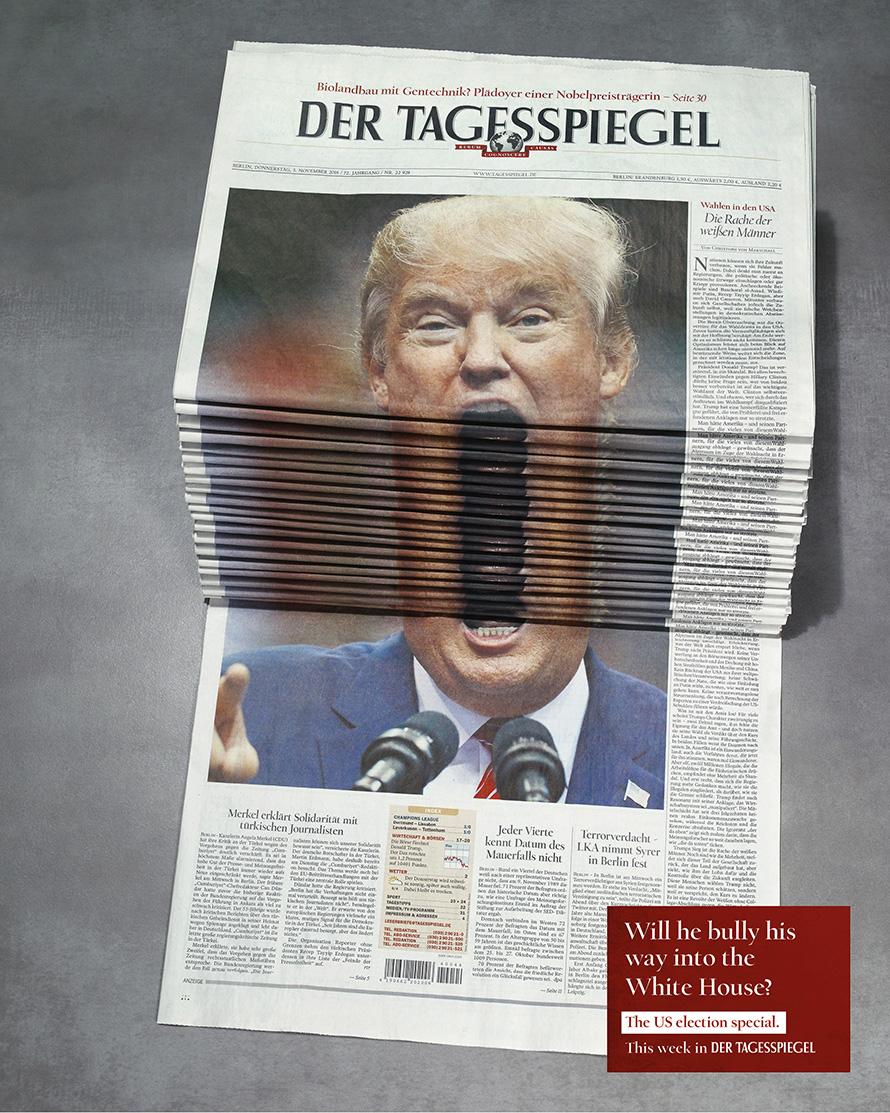 Tagesspiegel_Newspaper-Stack_Trump
