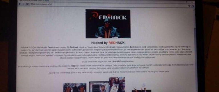 Doğan Medya'yı alan Demirören Holding'in siteleri RedHack tarafından 'hack'lendi...